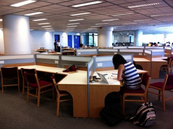 Y-Shaped Study Carrels