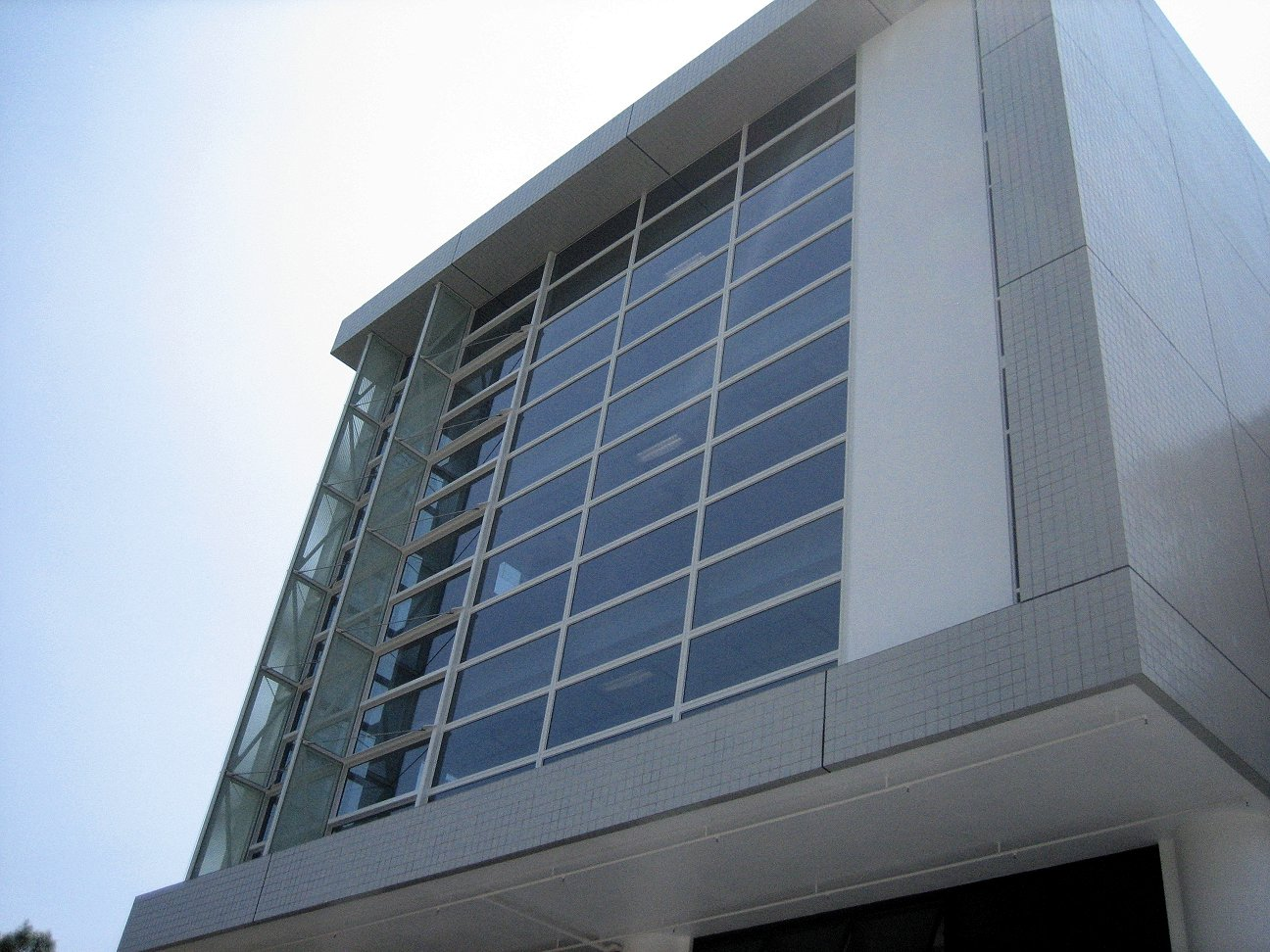 Exterior view of the North wall
